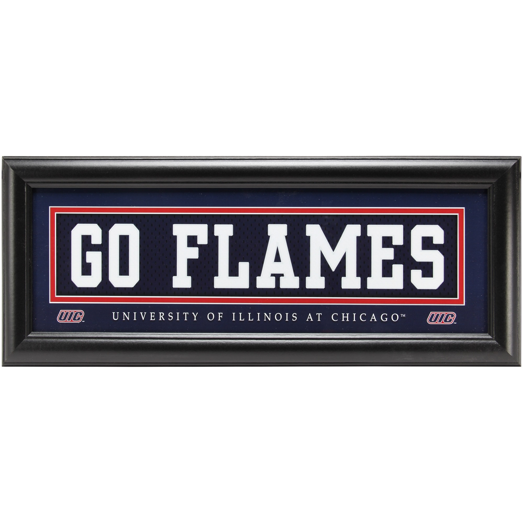 Illinois Chicago Flames 8'' x 24'' Framed Uniform Wall Art